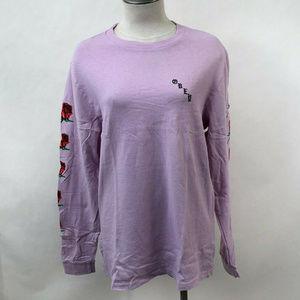 """Obey LS Pigment T-Shirt """"Slauson Rose"""" Lavender"""